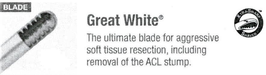 ConMed 9399A 3.5mm Sterling Great White Arthroscopy Shaver Blade - Veterinary Surgical Only