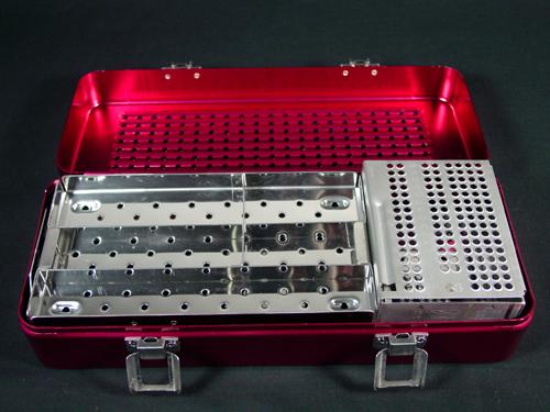 Red Aluminum Sterilization Case