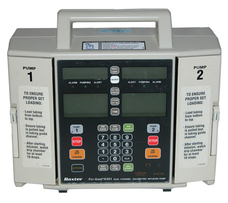 Baxter Flo-Guard 6301 Dual Channel Volumetric Infusion Pump